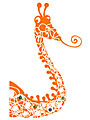 Sticker Porte-manteaux Girafe