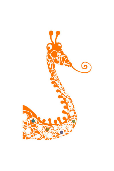 Sticker Girafe Porte-manteaux