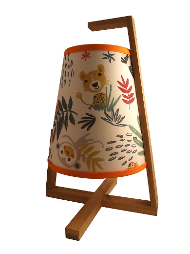 Lampe tissu Jungle